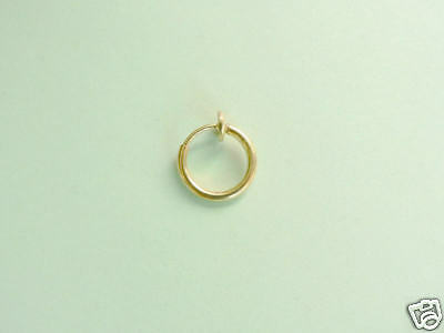 Gold Fake Sexy Belly Lip Nipple Earring Non Piercing
