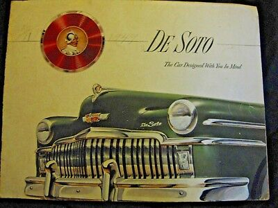 1949 Desoto classic car Advertising brochure great 4 car shows display No Res