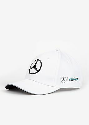 2017 OFFICIAL F1 Mercedes AMG Petronas MENS Team Baseball Cap Hat WHITE – NEW