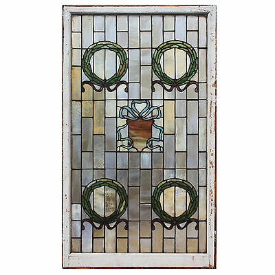 Substantial Antique American Stained Glass Windows, 2 Available, NSG134