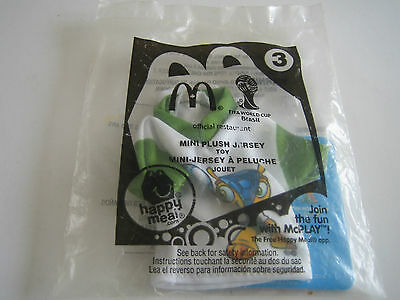 McDonald's 2014 FIFA World Cup Mini Plush Jersey Toy #3