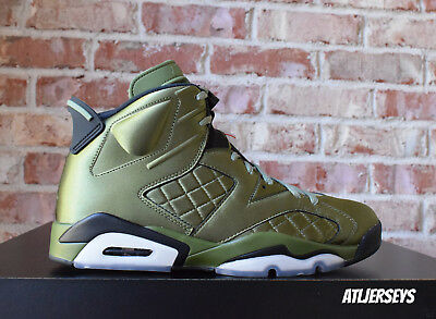 brand new b7b3f bf631 Air Jordan 6 VI Retro Pinnacle Promo Flight Jacket Satin SNL Green  AH4614-303