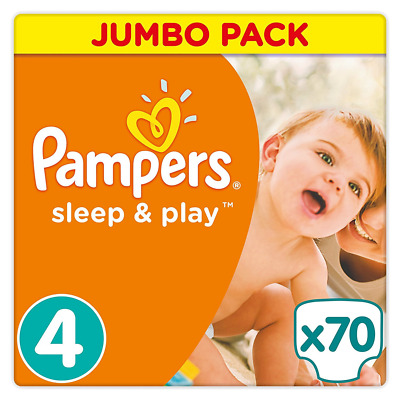 Pampers - Sleep & Play - Couches Taille 4 (8-16 kg) - Jumbo Pack x70 Couches