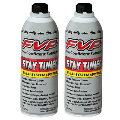 FVP ST-16 Stay Tuned Additive Motor Treatment Gas or Diesel 16oz Pack Of 2