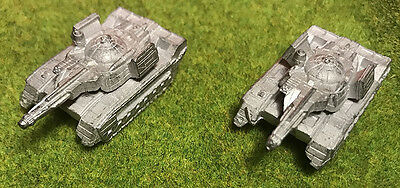 BATTLETECH Ral Partha Miniature - Metal Carro armato ROMMEL PATTON TANK 20-750