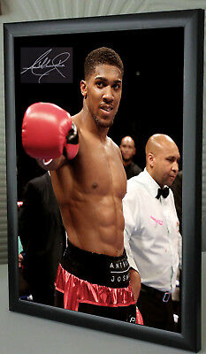 ANTHONY JOSHUA  Framed Canvas Print Signed Great Gift-Souvenir