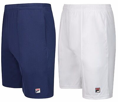 New Men's FILA Retro Tennis Shorts - Navy Blue & White - Vintage Sports Fitness