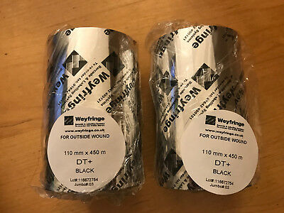 Weyfringe (Zebra compatible) Resin / Wax 110mm x 450m Thermal Ribbons x 2