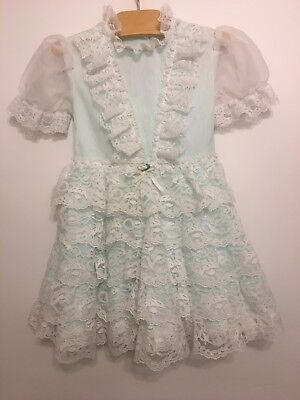 Girls children's toddler vintage party sheer party dress.