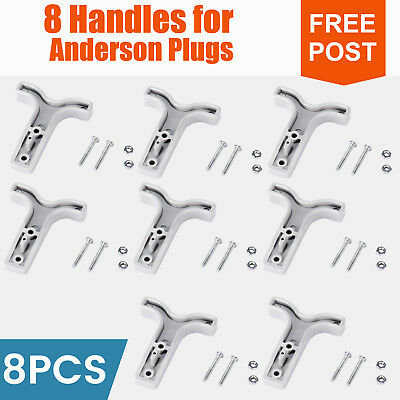 8x T Handles for 50AMP Anderson Plug Connector For Auto 4WD Caravan Black