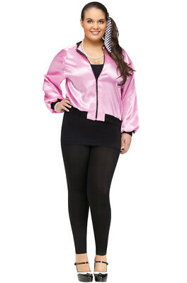 Brand New 50's Pink Ladies Jacket Plus Size Costume