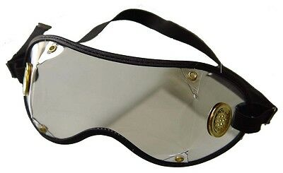 Jockey Goggles~PVC Lens With Anti Fog Brass Vents With Black Trim