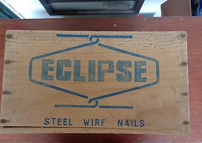 Vintage nail box ECLIPSE, uncovered surface, pristine labelling