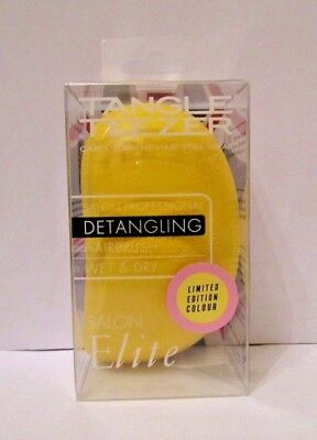 Tangle Teezer Elite Detangling Hairbrush Wet & Dry Hair - Lemon Yellow & Pink