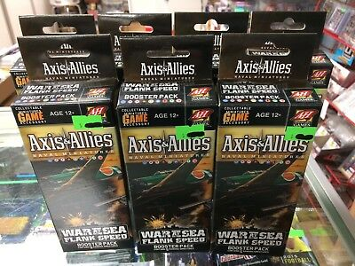Axis & Allies War at Sea Flank Speed Booster Pack Factory Sealed NEW A&A Minis