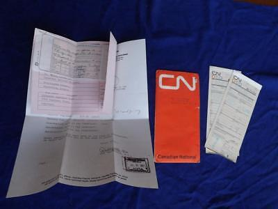 Cn Canadian National Railway Receipt Ticket Stubs Hotel Receipt Reservation 1967