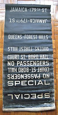 Vintage New York R-10 Subway Car Roll Sign Section Jamaica 179 Forest Hills