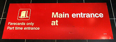 Chicago Transit Authority CTA Farecards Only Train Station Entrance Sign