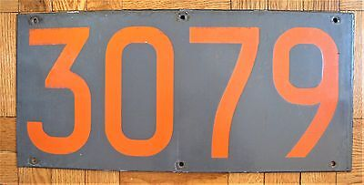 Vintage New York Subway Car Number Board Plate Sign R-10 3079 ACF