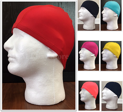 Spandex Skull Cap Black Red Yellow Peach Aqua Blue Fuchsia Navy Blue One Size