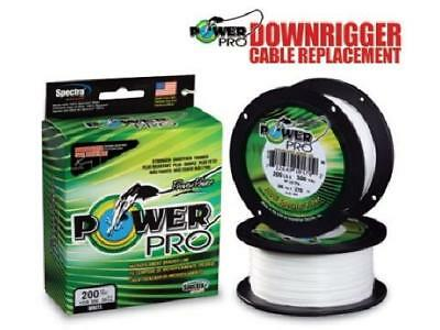 Power Pro Downrigger Cable 250lb 450 feet , Green, NEW