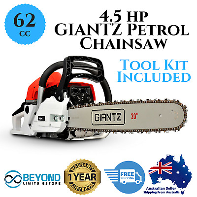 Chainsaw 62CC 20inch 4.5HP Chain saw Petrol Grade 2 Stroke Pruning Garden Hedge