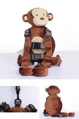 2 in 1 Walking Leash Animal Monkey Toddler Safety Harness Children's Backpack