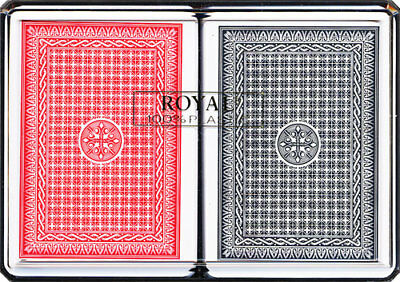 2 Pack Playing Cards 100% Plastic Decks Card Games Deck Waterproof Black & Red