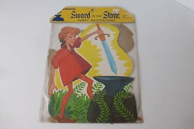 Vintage Walt Disney Sword in the Stone Party Decoration, 1963