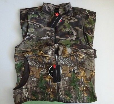 Under Armour Men's Camo Threadborne Scent Control Fleece Hunting Vest NWT
