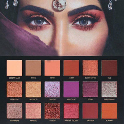 Huda Beauty 18 Colors Shimmer Matte Lidschatten Palette set Makeup Beauty ^-^