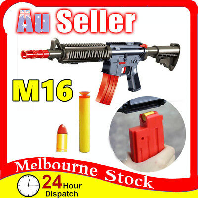 Plastic M16 Police Pistol Toy Gun Weapon Kids Boys Army Compatible Nerf Bullets