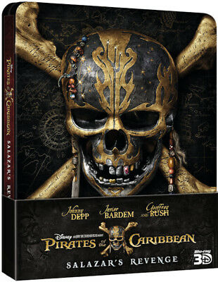 Pirates of the Caribbean Dead Men Tell No Tales Blu-ray 2D/3D Steelbook Salazars