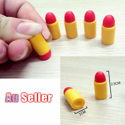 24x Rubber Bullets for Plastic Police Pistol Toy Gun Weapon Kids Boys Army