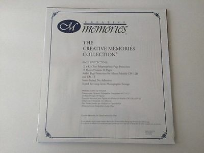 15 sheets protects 30 pages Creative Memories 12x12 Page Protectors vinyl CM-12