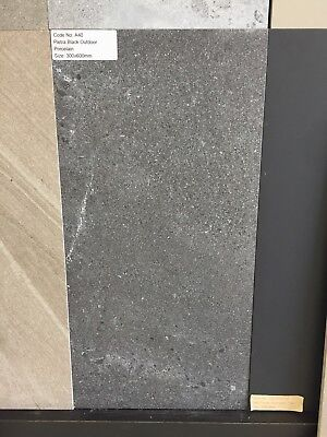 Pietra Black Outdoor Porcelain tile 300x600mm