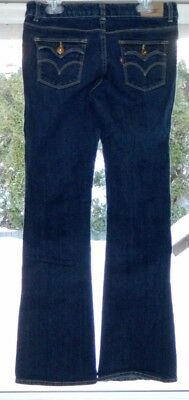 Levi's Girls Boot Cut Blue Jeans with Adjustable Waist Size 16