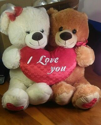 "Large 24"" Stuffed Plush Valentine Teddy Bear Love Couple"