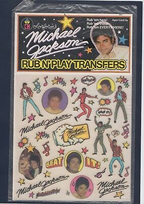Michael Jackson Official Rub N'play Transfers Colorforms Usa 1984 Sealed-New