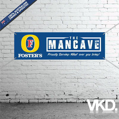 Fosters Mancave Banner - Man Cave Bar New Custom Personalised Beer Can Australia