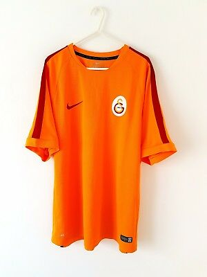 Official Galatasaray T-Shirt. XL. Adidas. Orange Adults Short Sleeves Top Only.