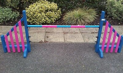 Dog agility training equipment wing jumps made to K.C lower height options