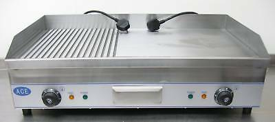 Giant Sale LARGE 100cm 1m Electric GRIDDLE HOTPLATE 1/2 RIBBED PLATE 2 x PLUGS