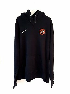 Dundee United Hoodied Top. Large. Nike. Black Adults L Long Sleeves Football.