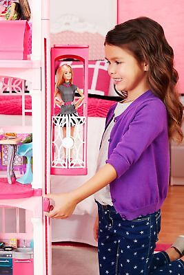 Barbie Dream House 3 Story w Elevator Accessories Furniture Dollhouse for Girls