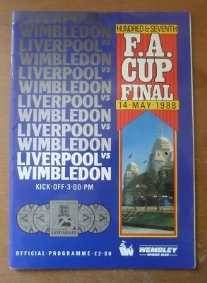 1988 - Liverpool v Wimbledon, Autographed FA Cup Final Match Programme