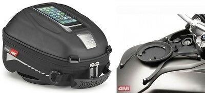 F800 GS Since bj. 08 -. BMW Motorcycle Tank Bag Set GIVI ST602 4L + Ring NEW