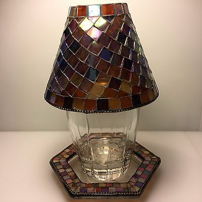 "PartyLite ""Mosiac Global Fusion Candle Holder Lamp"""