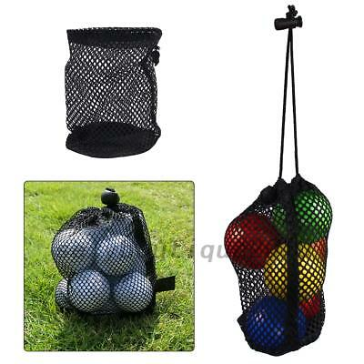 Nylon Mesh Nets Bag Pouch Golf Ball 12 Balls Holder Storage Bag Creative