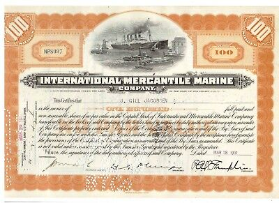 IMM International Mercantil Marine 1931 Titanic White Star Line